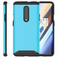 OnePlus 7 Pro Case Durable Dual Layer Drop Protective Hard Cover Slim Fit Blue