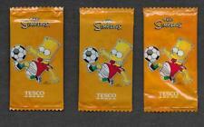 The Simpsons Tesco Sealed Soccer Fridge Magnet Packs - Lot of 3