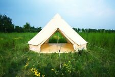 5M Double Door Large Cotton Canvas Bell Tent Glamping British Yurt Camping Tent