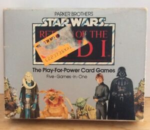 Star Wars Vintage 1983 ROTJ Play For Power Card Game Deck, Parker Bros RARE