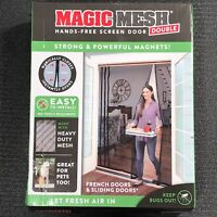 Magic Mesh Double - Hands-Free Heavy-Duty Magnetic French & Sliding Door Screen