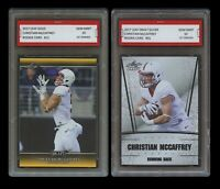 CHRISTIAN McCAFFREY 2017 LEAF GOLD/SILVER 1ST GRADED 10 ROOKIE CARD LOT PANTHERS