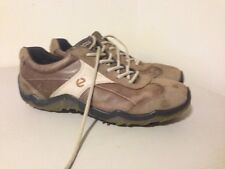 Men's ECCO HYDROMAX Saddle Style Golf Shoes in Brown & Tan Leather size 45 US 12
