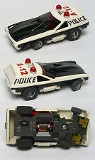 1976 Aurora AFX G+ Smokie's POLICE VEGA HO Slot Car Screecher Magna-steer #5781