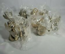 Lot of 8 Silver plated Angel Napkin Rings Christmas Decor Tableware