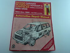Haynes manual 1984 - 1995 Caravan Voyager and Town and Country Mini-Vans
