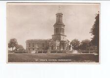 Postcard. St Chad's Church, Shrewsbury. Real Photo. 1929