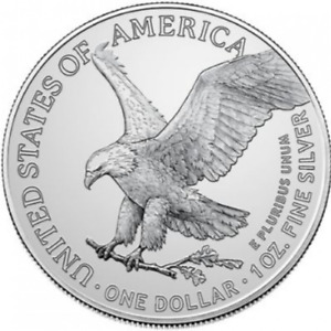 Presale - 2021 1 oz .999 Silver American Eagle BU Type II with airtite