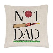 No.1 Papá Cricket Lino Funda de Cojín Almohada - Divertido Padre Día Sport