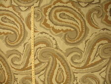 Contemporary Abstract Artsy Large Paisleys Gray Clay Putty Upholstery Fabric