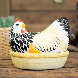 Mason Cash Mother Hen Egg Holder Kitchen Storage Nest Basket Cockerel Chicken