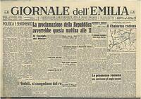 GIORNALE DELL'EMILIA 9 GIUGNO 1946 GIORNALI DELLA REPUBBLICA