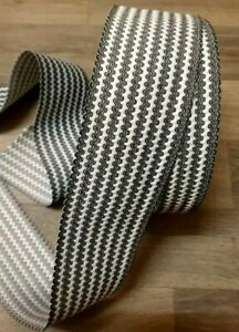 2Y Black & White Wavy Stretch Wide Elastic Waistbands Cuffs Sewing Multipurpose