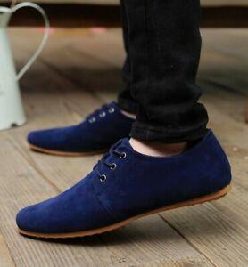 Mens Round Toe Lace Up Suede Business Dress Shoes Casual Oxfords Pumps Shoes S