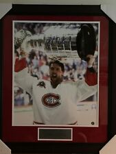 Patrick Roy signed 16x20  with Frozen Pond hologram cert framed and matted