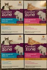 LOT (4) Comfort Zone Two Room Kits- 8 Diffusers and 8 Refills for Cats & Kittens
