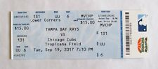 2017 TAMPA BAY RAYS VS CHICAGO CUBS TICKET STUB TROPICANA FIELD 9-19
