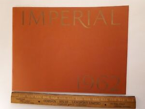 1962 IMPERIAL - Original Prestige Color Sales Catalog - Brochure - (US)