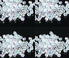 Bicone Faceted Rondelle Glass Crystal Charms Loose Spacer Jewelry Beads 3-8mm