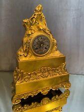 Pendule en bronze doré d'époque Charles X