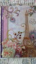 NEW BLANK JOURNAL DIARY LOVELY Paris theme. 3 gems on front. gold swirls.AWESOM