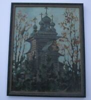 MASTERFUL IMPRESSIONIST PAINTING RUSSIA AMERICAN MODERNIST KLEVER SIGNED VINTAGE