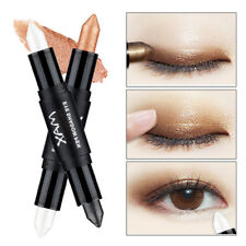 Women Makeup Glitter Eye Shadow Primer Pen Double Ended Eyeshadow Stick 14Colors