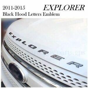 US! BLACK GRAPHITE HOOD EMBLEM LETTERS FOR FORD EXPLORER SPORT DECALS 2012 2016