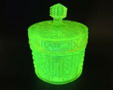 Val Saint Lambert Vaseline Glass Sugar Bowl c.1880s