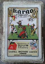 VINTAGE Pepys KARGO Golf Card Game CASTELL BROS. completare SUPERBA