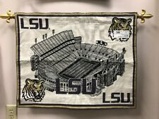 LSU Louisiana State University Tigers Football Tapestry Wall Hanging Banner RARE