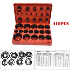 419PCS O-Ring Assortment Set Metric Hand Tool Seal Rubber Gasket Box Kit Garage