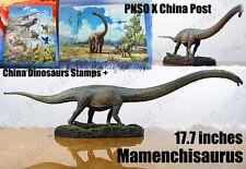 "PNSO X China Post 17"" Mamenchisaurus Dinosaurs figure model w/ limited stamps"