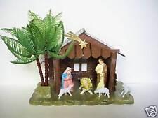 VINTAGE CHRISTMAS MANGER NATIVITY SCENE NEW SEALED 70's