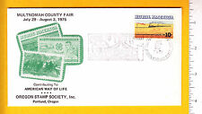 7346 Multnomah County Fair 1975 advertising cover Portland, OR stamp 4-H Club