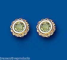 Peridot Studs Peridot Earrings Yellow gold Peridot Earrings