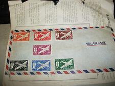 New Caledonia Souvenir Stamp Cover 1943