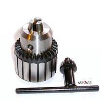 Mandrin de perçage avec clé 1-10mm B12 - perçeuse à colonne fraiseuse UTILOUTIL