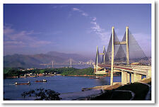 Cable Bridges Hong Kong China - POSTER