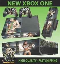Xbox One Consola Pegatina CALL OF BOOTY SEXY Soldados Skin & 2 PAD