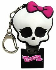 Monster High 4GB USB Flash Drive Data Thumb Key Chain Mac PC Pink Skull BOw
