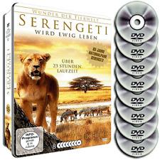 8 DVD Steel Box Nationalpark Serengeti - Wunder der Tierwelt - Wildnis - Neu