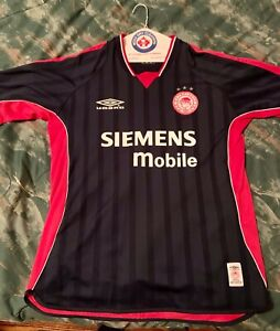 2001-02 Olympiakos Away Jersey Shirt Soccer Size  Large Olympiacos