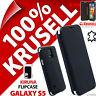 New Krusell Kiruna GENUINE LEATHER Flip Case for Samsung Galaxy S5 Cover Black