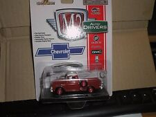 M2 MACHINES AUTO-DRIVERS 1958 CHEVROLET APACHE STEP-SIDE PICKUP RED