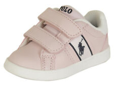 Polo Ralph Lauren Toddler Girl's Quigley-EZ Pink/White Sneakers Shoes