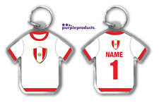 Personalised PERU 2018 World Cup Football Team Supporters Keyring