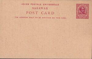 1900 SARAWAK vintage PS CARD 4c BROOKE red #4 superb MNH