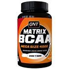QNT Matrix BCAA 4800 Mega Size Amino Acid Muscle Recovery Supplement - 200 Caps
