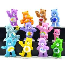 12 pcs / lot 4-6 cm Care Bears Action Figure Toys For Kids Boy Girl Kawaii Gift